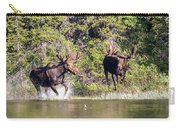 Bull Moose Defends His Territory Carry-all Pouch