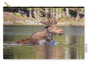 Bull Moose Goes For A Swim Carry-all Pouch