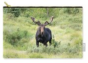 Bull Moose Stands Guard Carry-all Pouch
