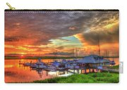 Bull River Marina Sunrise 2 Sunrise Art Carry-all Pouch
