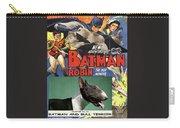 Bull Terrier Art Canvas Print - Batman Movie Poster Carry-all Pouch