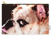 Bulldog Art - Let's Play Carry-all Pouch by Sharon Cummings