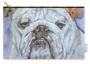 Bulldog - Watercolor Portrait.5 Carry-all Pouch