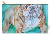 Bulldog - Watercolor Portrait.6 Carry-all Pouch