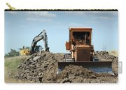 Bulldozer And Excavator On Road Construction Carry-all Pouch