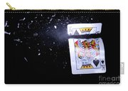 Bullet Hitting A Playing Card Carry-all Pouch