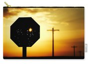 Bullet-riddled Stop Sign Carry-all Pouch