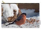 Bullfinch In The Snow Carry-all Pouch