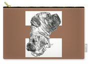 Bullmastiff And Pup Carry-all Pouch