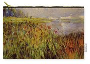 Bulrushes On The Banks Of The Seine 1874 Carry-all Pouch