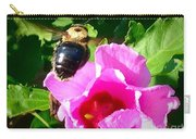 Bumble Bee Flying To Flower Carry-all Pouch