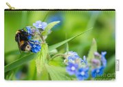 Bumble Bee On Siberian Bugloss Carry-all Pouch