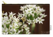 Bumble Bee On Wild Onion Flower Carry-all Pouch