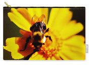 Bumble Bee On Yellow Flower Carry-all Pouch