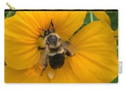Bumble Bee On Yellow Nasturtium Carry-all Pouch