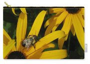 Bumble Bee Sitting On Black-eyed Susan Carry-all Pouch