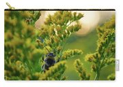 Bumblebee And Canadian Goldenrod 15 Carry-all Pouch