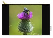 Bumblebee On Thistle Carry-all Pouch