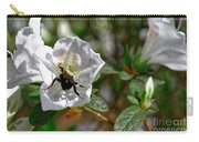 Bumblebee On White Azalea Carry-all Pouch