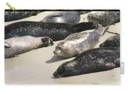 Bunch Of Harbor Seals Resting On A Beach Carry-all Pouch