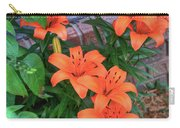 Bunch Of Orange Lilies Carry-all Pouch