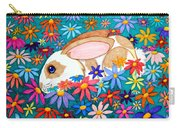 Bunny And Flowers Carry-all Pouch