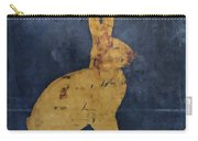 Bunny In Blue Carry-all Pouch by Carol Leigh
