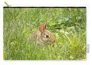 Bunny In The Grass Carry-all Pouch