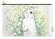 Bunny In White Carry-all Pouch
