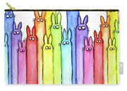 Bunny Rainbow Pattern Carry-all Pouch