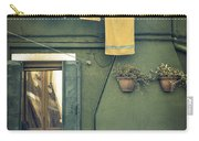 Burano - Green House Carry-all Pouch by Joana Kruse