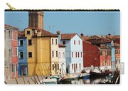 Burano An Island Of Multi Colored Homes On Canals North Of Venice Italy Carry-all Pouch