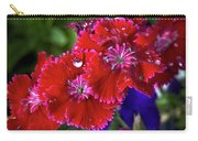 Burgandy Red Dianthus Carry-all Pouch