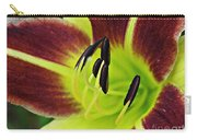 Burgundy And Yellow Lily Carry-all Pouch