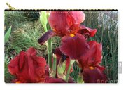 Burgundy Iris Flowers Carry-all Pouch