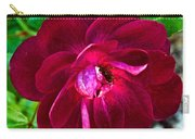 Burgundy Red Rose At Pilgrim Place In Claremont-california  Carry-all Pouch