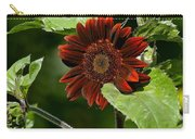 Burgundy Red Sunflower Carry-all Pouch