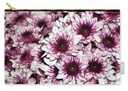 Burgundy White Crysanthemums Carry-all Pouch