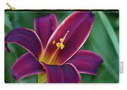 Burgundy Wine Red Daylily Carry-all Pouch