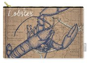 Burlap Lobster Carry-all Pouch