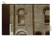 Burlington North Carolina - Arches And Alley Sepia Carry-all Pouch