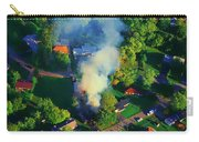 Burnin Down The House Aerial Single Family Home On Fire  Carry-all Pouch
