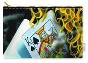 Burning Blackjack Carry-all Pouch