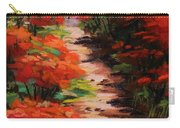 Burning Bush Along The Lane Carry-all Pouch