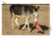 Burro Playing With Safety Cone Carry-all Pouch