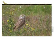 Burrowing Owl And Flowers Carry-all Pouch