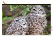 Burrowing Owl Pair  Carry-all Pouch