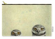 Burrowing Owls Carry-all Pouch by James W Johnson