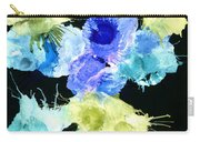 Bursting Comets 2017 - Blue And Green On Black Carry-all Pouch
