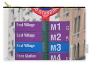 Bus Stop Sign In New York City Carry-all Pouch